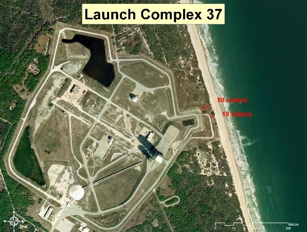Изменения климата разрушают космодром NASA