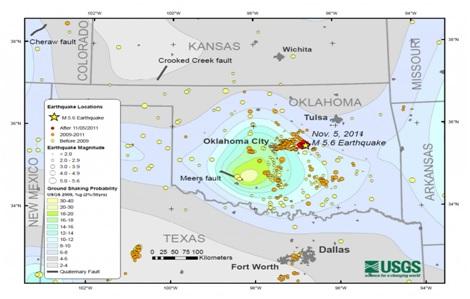 Добыча сланцевого газа в США приводит к землетрясениям