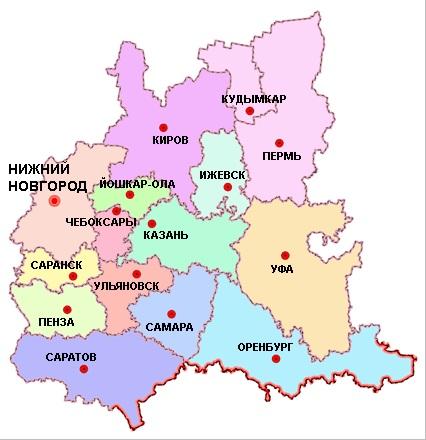 Карьеры Приволжского федерального округа