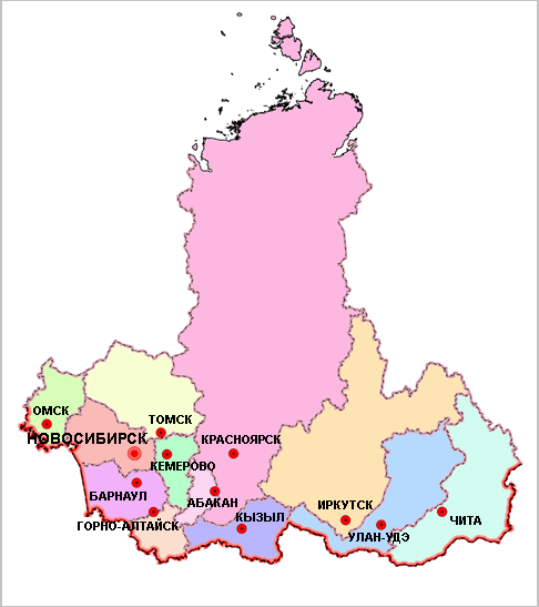 Карьеры Сибирского Федерального округа