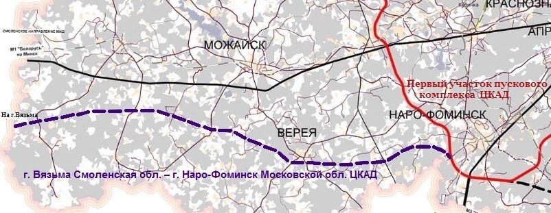 автомобильной дороги М-1 «