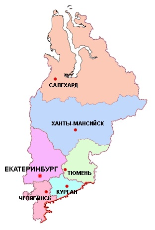 Карьеры Уральского Федерального округа